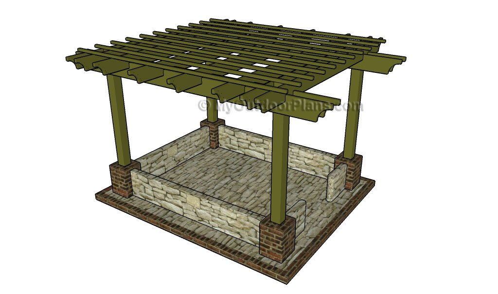 Pergola Plans Free - 12x24 Free Pergola Plans MyOutdoorPlans Free Woodworking Plans