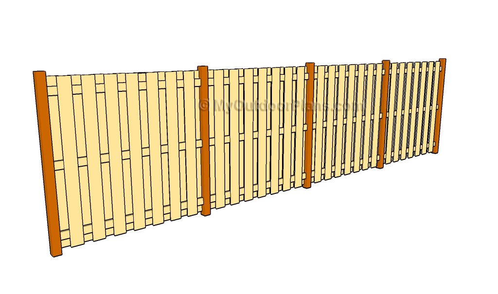 Wooden fence plans Fence planner