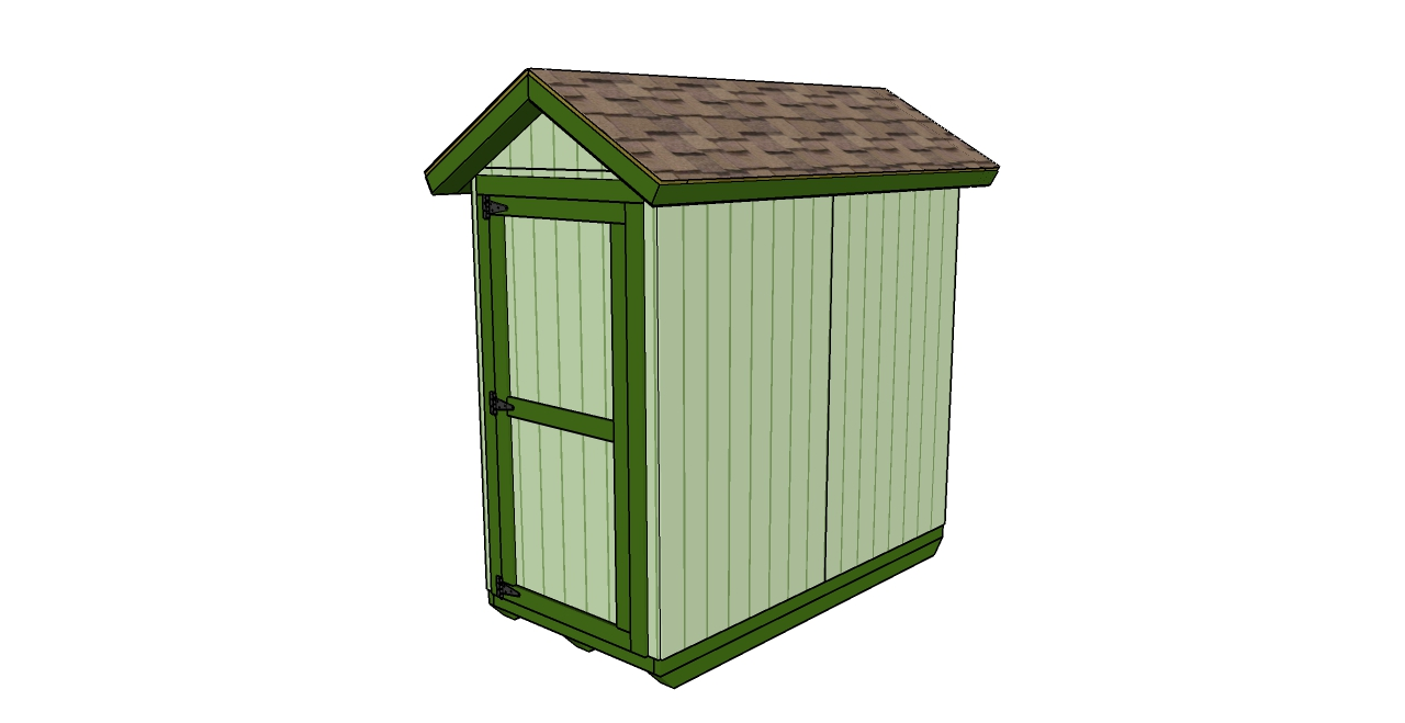 4x8 Shed Plans | MyOutdoorPlans | Free Woodworking Plans And Projects, DIY  Shed, Wooden Playhouse, Pergola, Bbq
