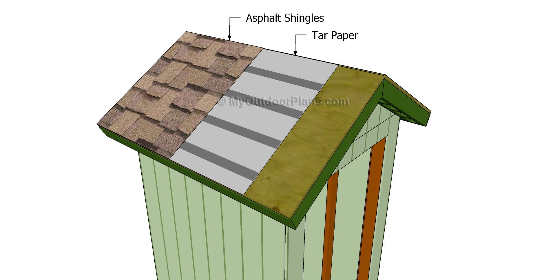 4×4 Shed Roof Plans
