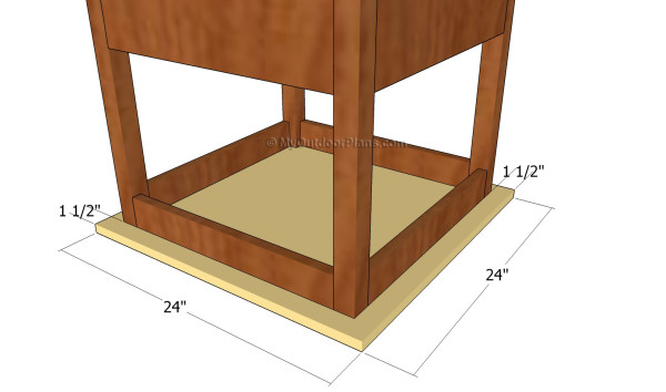 Attaching the tabletop of the play table