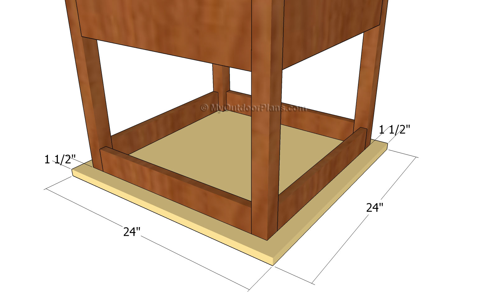 Attaching the tabletop of the play table for Diy play table plans