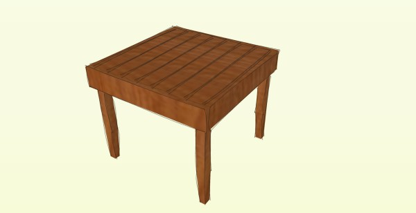 Deck table plans