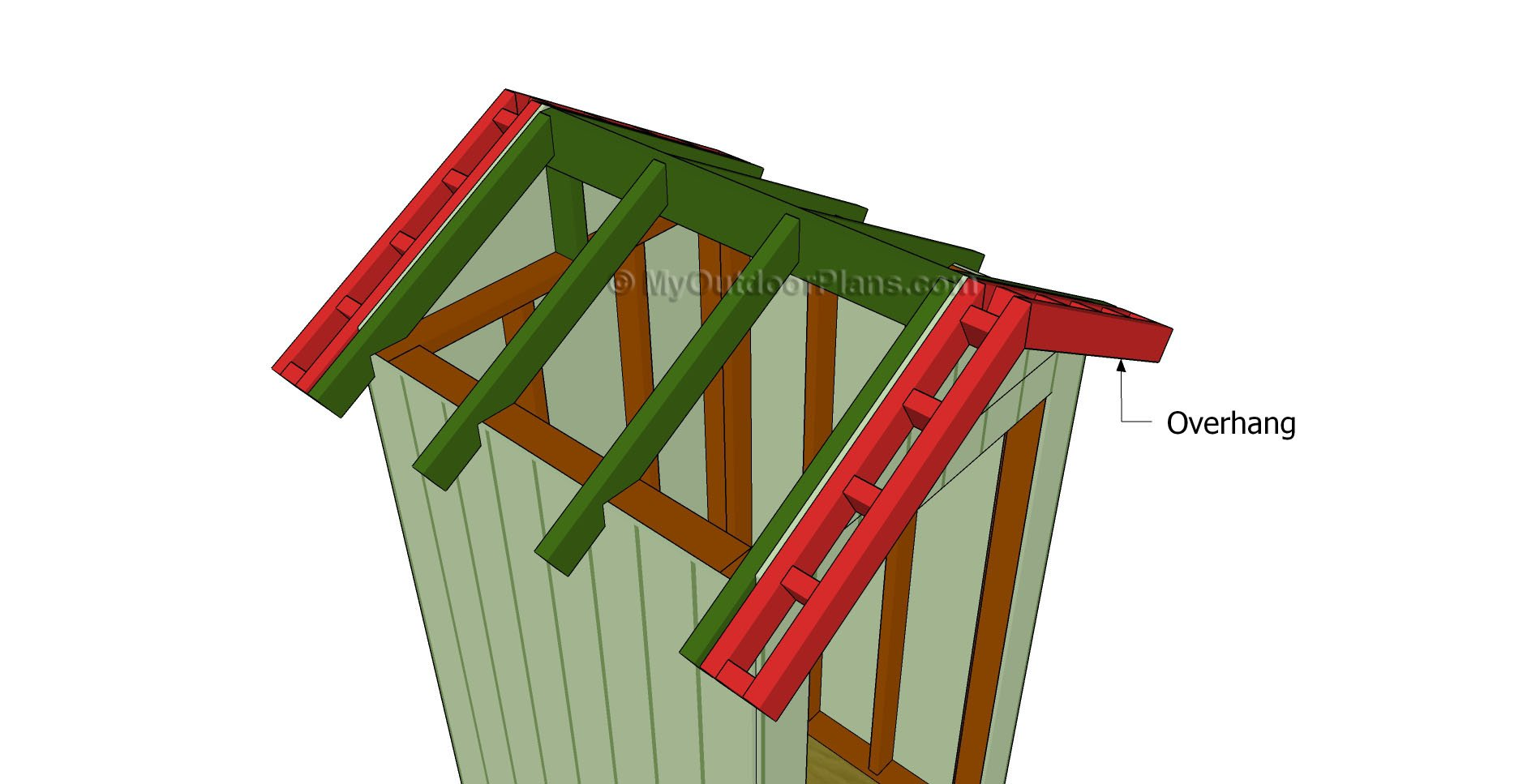 4×8 Shed Roof Plans