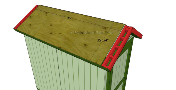 Installing the roofing sheets