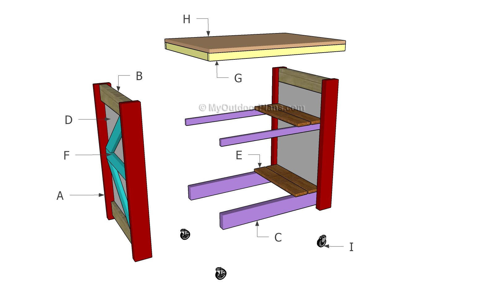 Small kitchen island plans myoutdoorplans free for Small table plans free