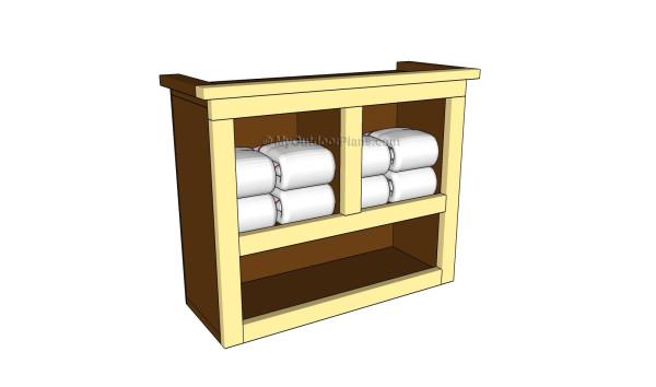 How to build bathroom shelves