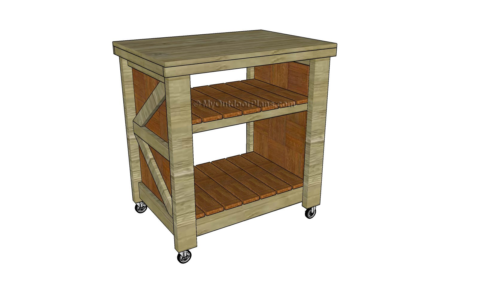 Small Kitchen Island Plans