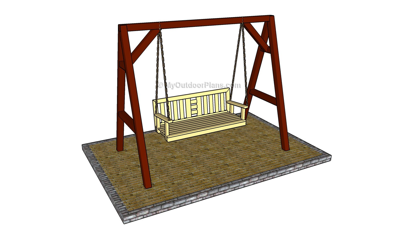 Porch Swing Stand Plans | MyOutdoorPlans | Free Woodworking Plans ...