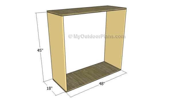 Assembling the frame of the desk