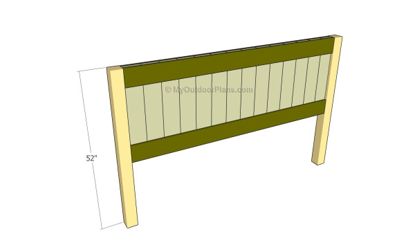 Assembling the headboard panel