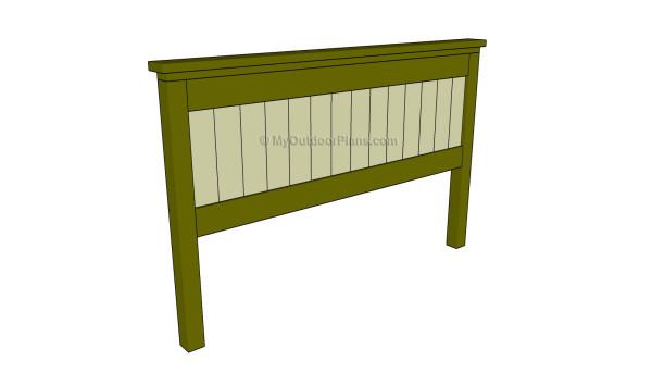 Bed headboard plans