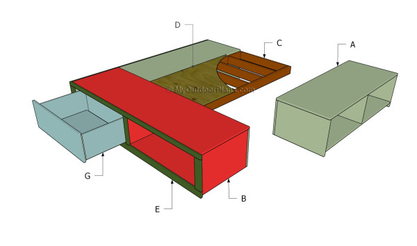 Building a bed with drawers