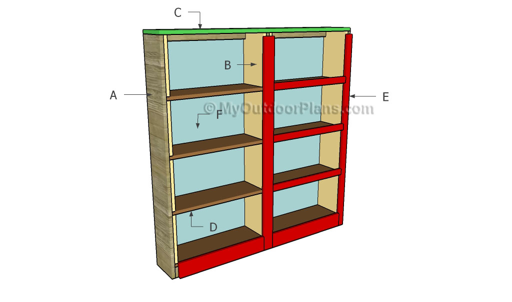 How to Build a Bookcase | Free Outdoor Plans - DIY Shed, Wooden ...