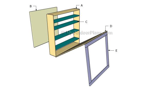 Building a drop down desk
