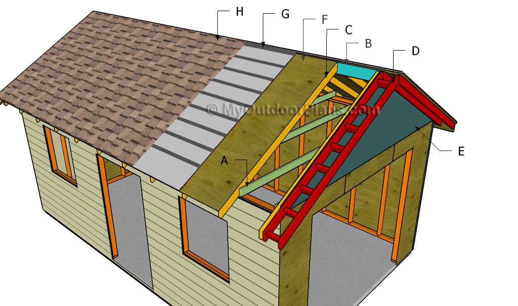 How to build a carport roof myoutdoorplans free for Shed roof garage plans