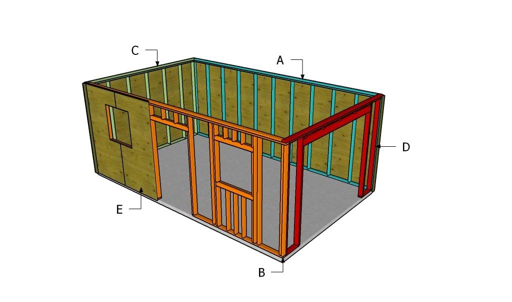 Free garage plans myoutdoorplans free woodworking for Garage framing plans