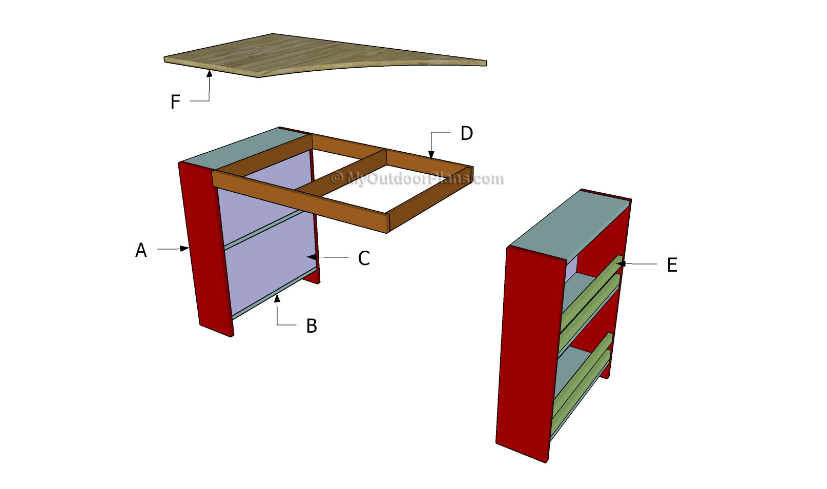 DIY Kids Desk Plans 1614 x 954