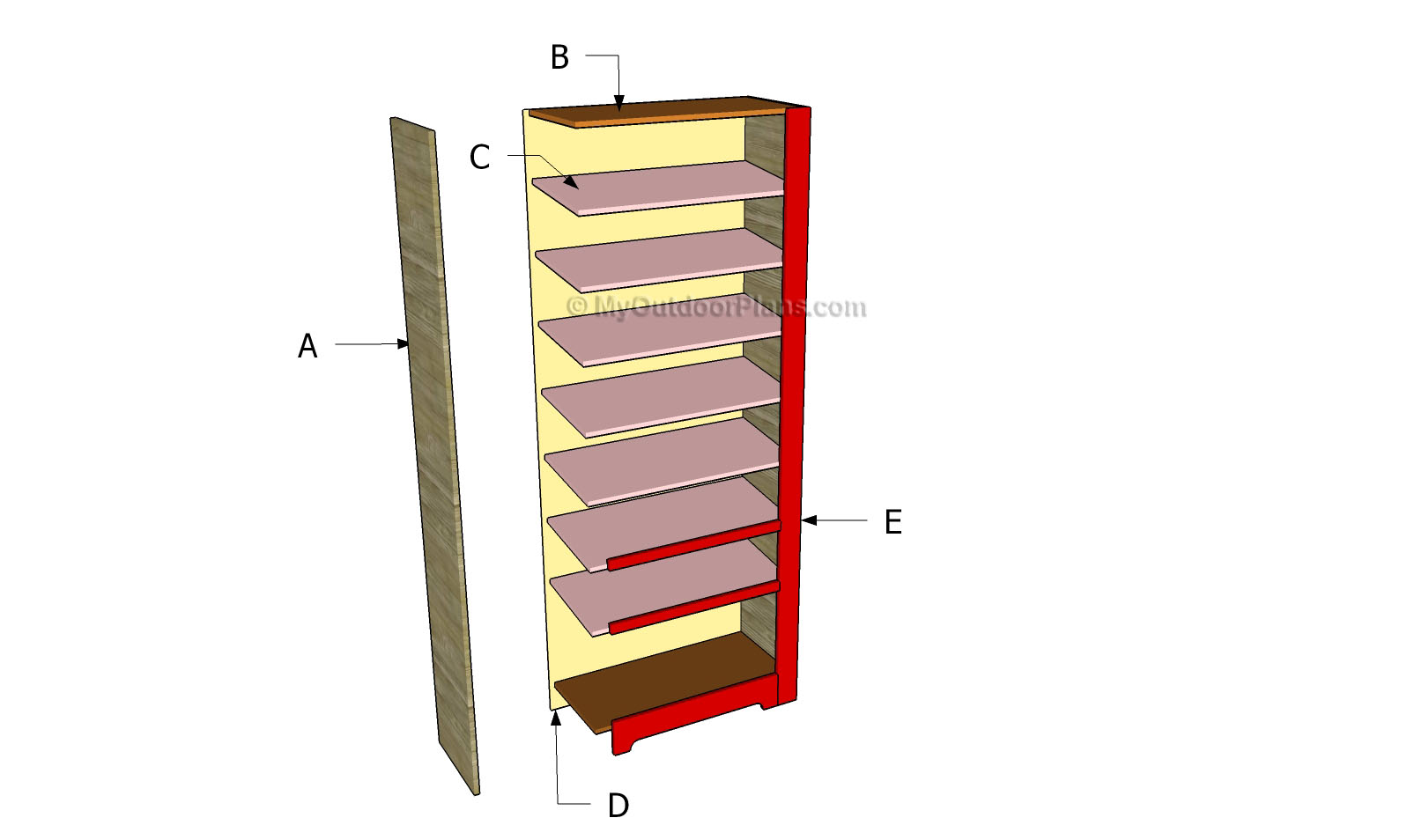 Shoe Rack Plans | MyOutdoorPlans | Free Woodworking Plans and Projects ...