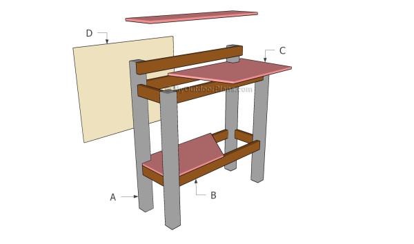 Stand Up Desk Plans MyOutdoorPlans Free Woodworking