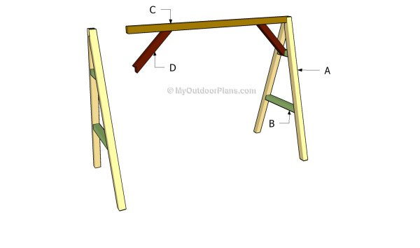 Building an a frame swing