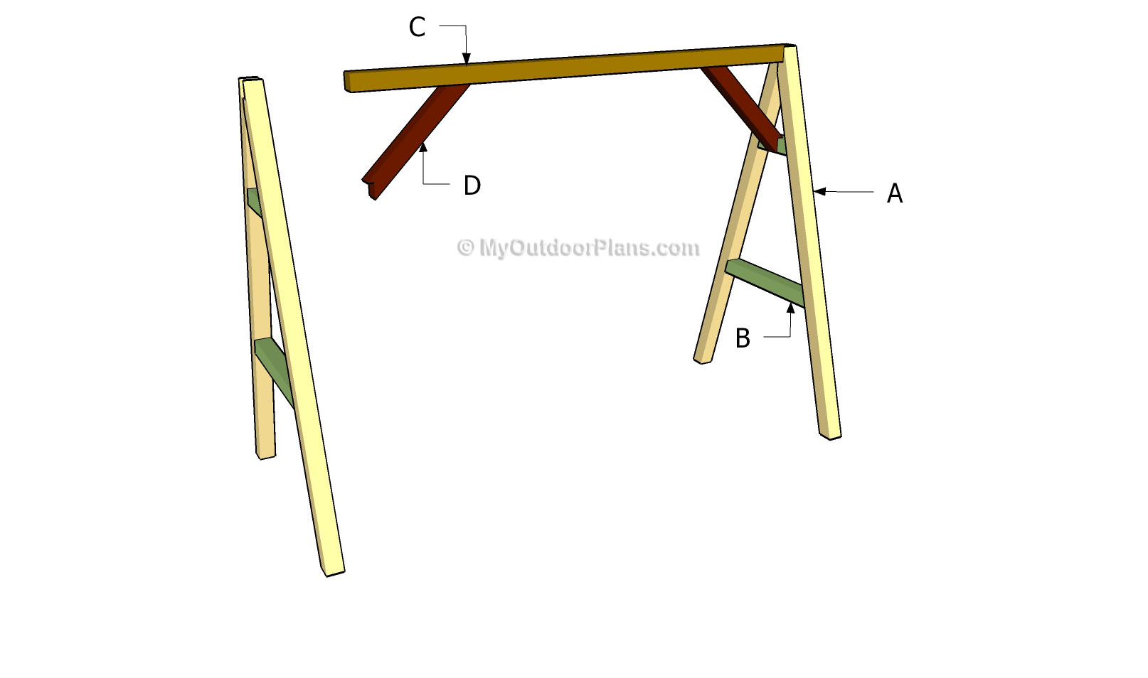 A frame swing plans myoutdoorplans free woodworking A frame blueprints