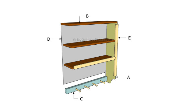 Building kitchen shelves