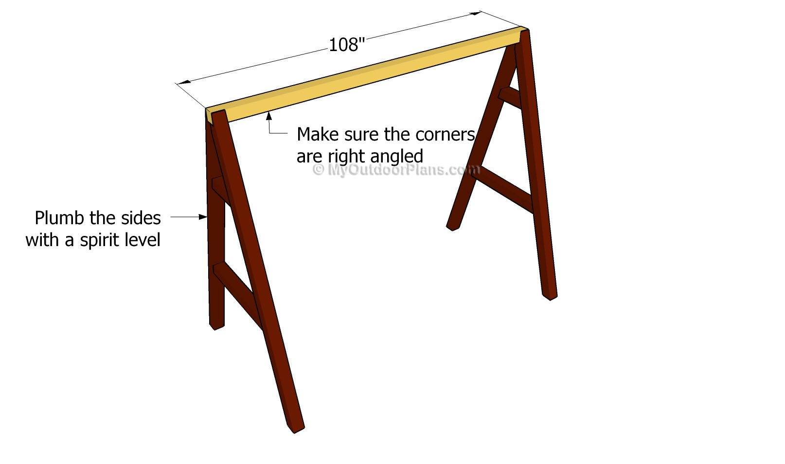 A frame swing plans free outdoor plans diy shed for How to build a frame swing structure