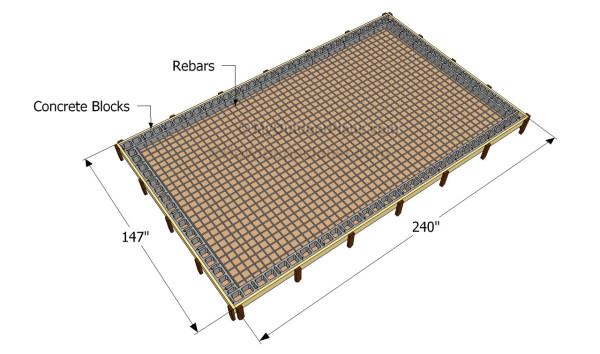 Building the concrete slab