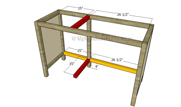 Building the desk frame