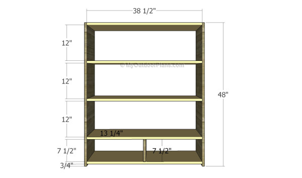 Building the frame of the bookcase