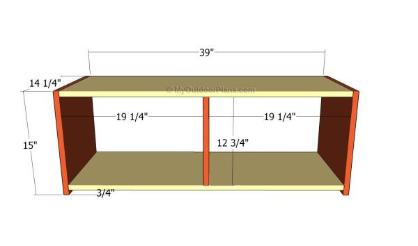 Building the front storage unit