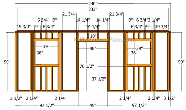 Building the side door wall