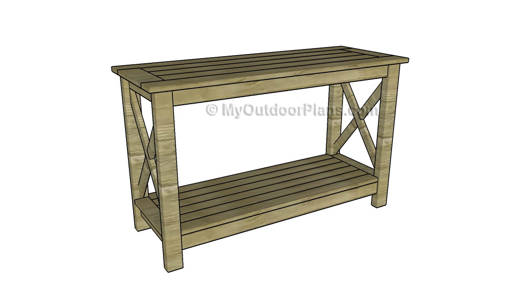 Console Table Plans | Free Outdoor Plans - DIY Shed, Wooden Playhouse ...
