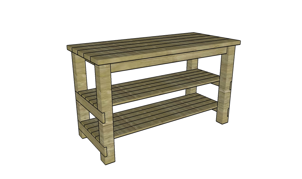 Butcher Block Table Plans MyOutdoorPlans Free Woodworking Plans and Projects, DIY Shed ...