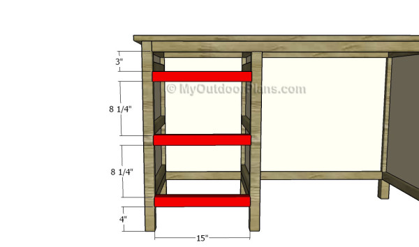 Fitting the drawer partitions