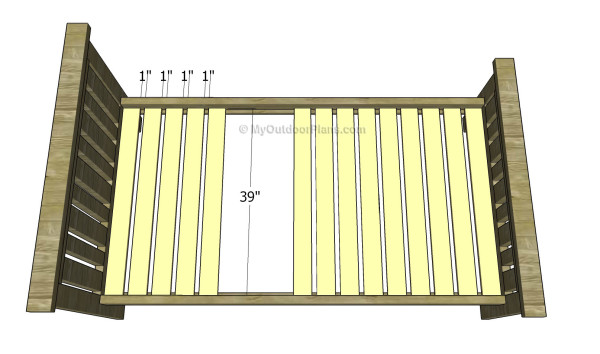 Fitting the support slats