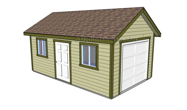 Free garage plans myoutdoorplans free woodworking for Playhouse with garage plans