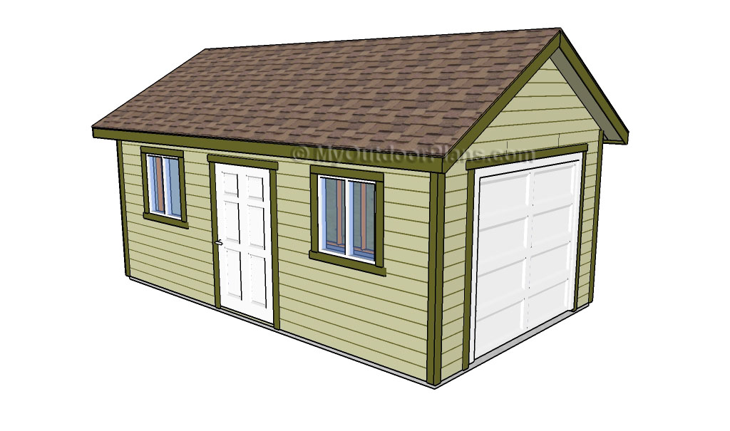 Garage roof plans myoutdoorplans free woodworking for Wooden playhouse with garage