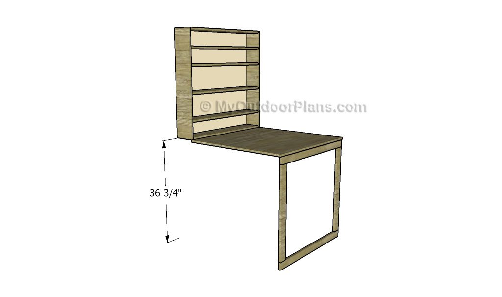 Drop Down Desk Plans
