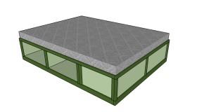 Queen Storage Bed Plans