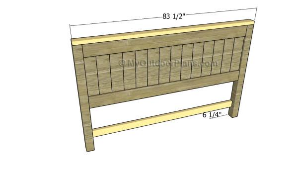 Assembling the headboard