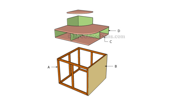 Building a corner hutch
