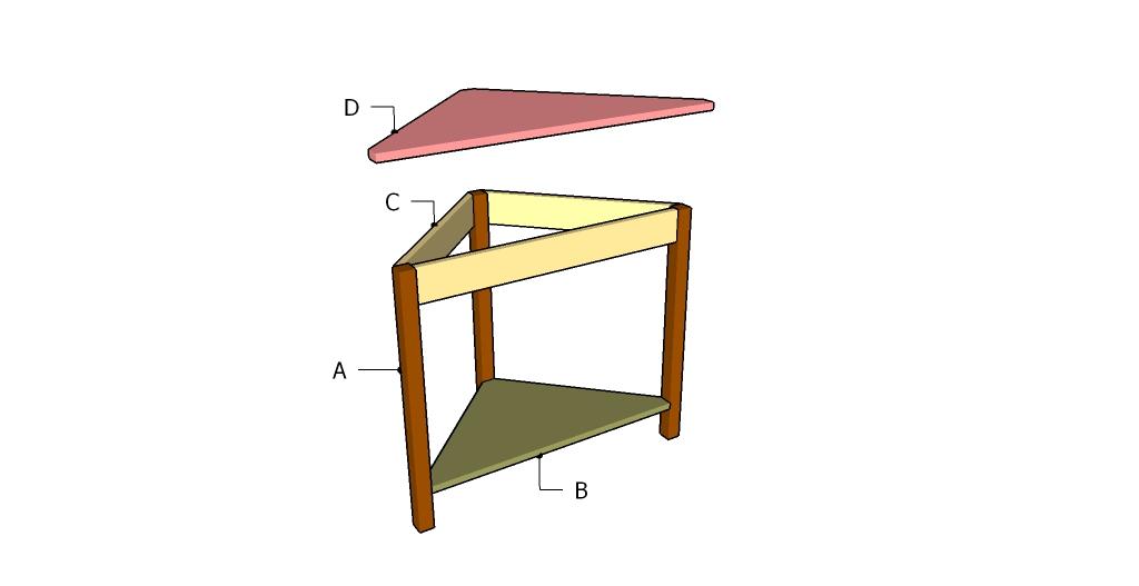 Corner Table Plans   MyOutdoorPlans   Free Woodworking ...