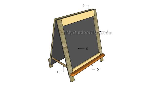 Building a folding chalkboard