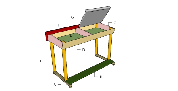 Building a kids desk