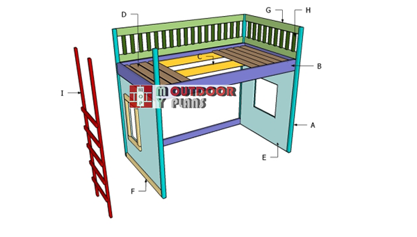 Building-a-playhouse-bed