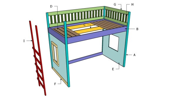 Building a playhouse loft bed