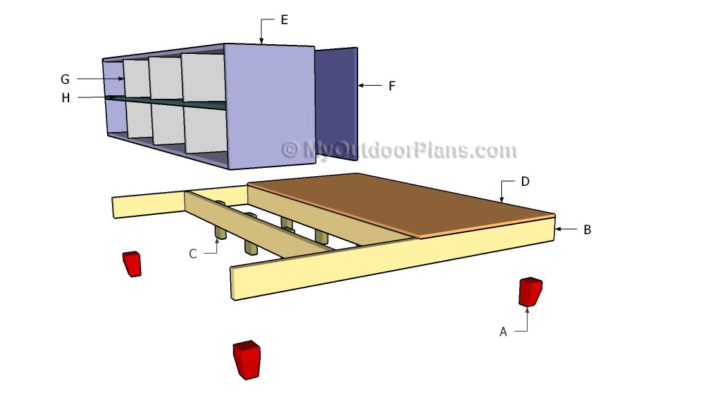 Building a storage platform bed