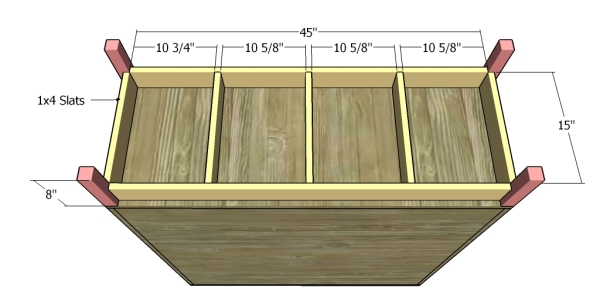Building the base of the cabinet